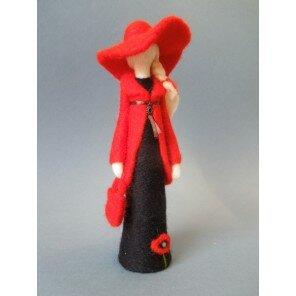 Anioł Dama w Czerwonym Kapeluszu