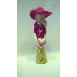 Anioł Dama z kwiatami - prezent ślubny