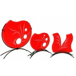 Świeca New Grass czerwona okrągła duża