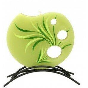 Świeca New Grass Zielona okrągła mała