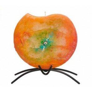 Świeca Pomarańczowa Impresja Okrągła