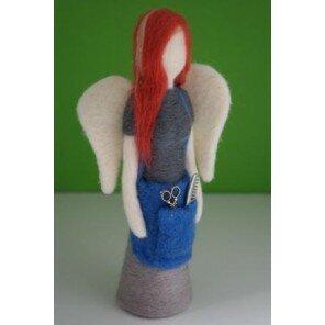 Anioł filcowy Fryzjerka