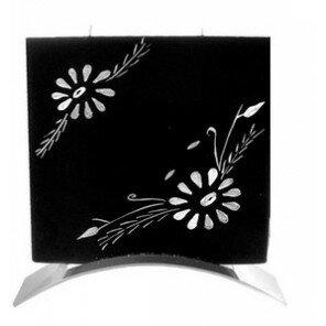 Świeca White Flower kwadratowa